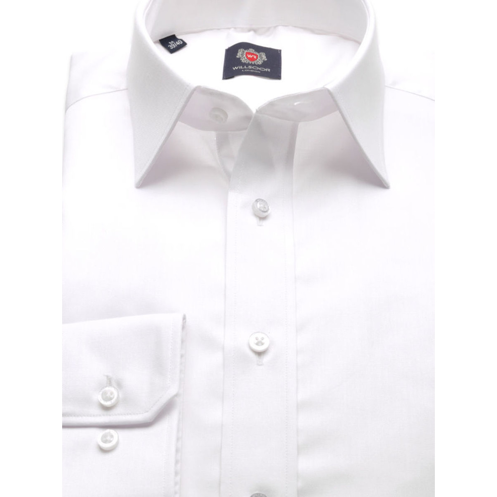 Men slim fit shirt London (height 198-204) 8561 in white color
