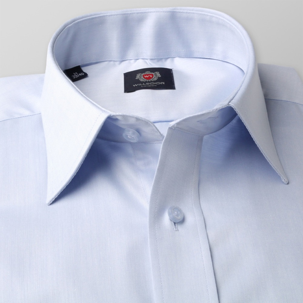 Men slim fit shirt London (height 198-204) 8563 in blue color with adjusting 2W Plus