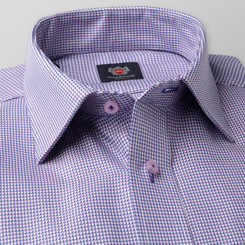 Men classic shirt London (height 176-182) 8574 with fine pattern a adjusting easy care