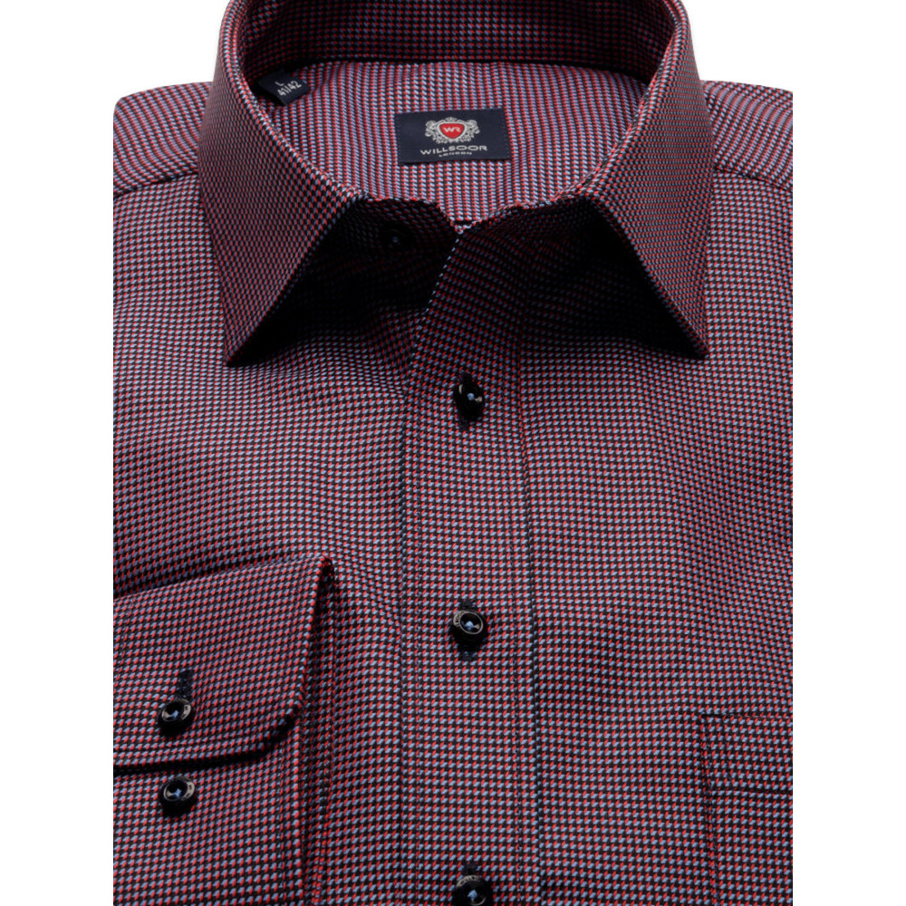 Men classic shirt London (height 188-194) 8582 in Black Colour and Easy Care Treatment