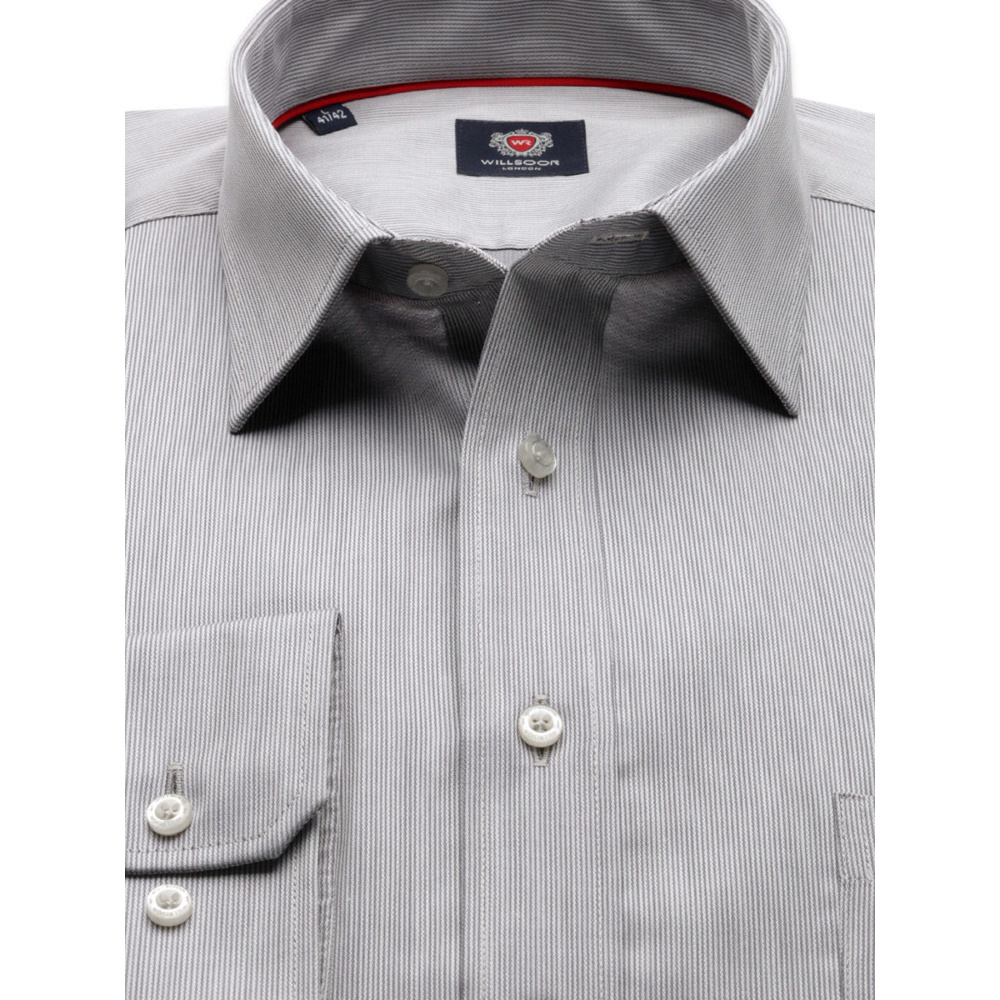 Men classic shirt London (height 188-194) 8601 in gray color with adjusting 2W Plus