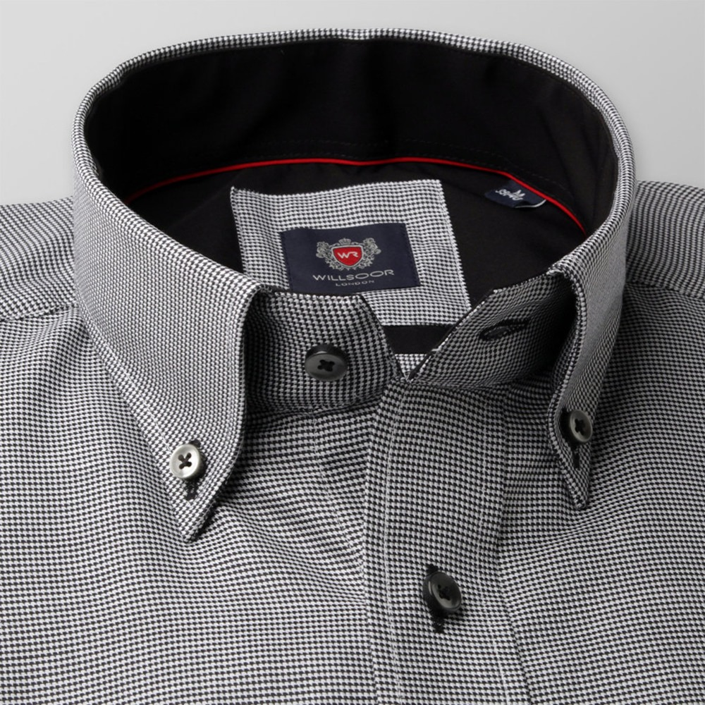 Men's grey classic shirt London (height 176-182) 8616 Easy care