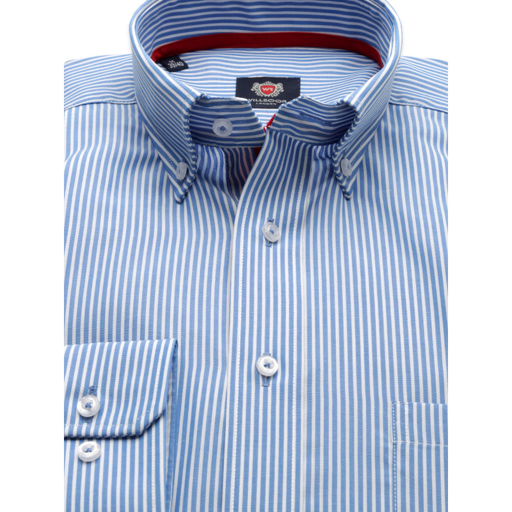 Men's striped slim fit shirt London (height 176-182) 8647 2W Plus