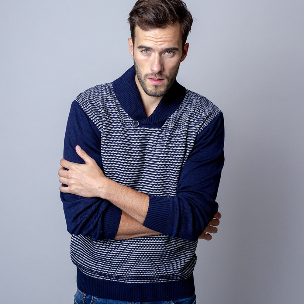 Men's grey sweater Willsoor 8651