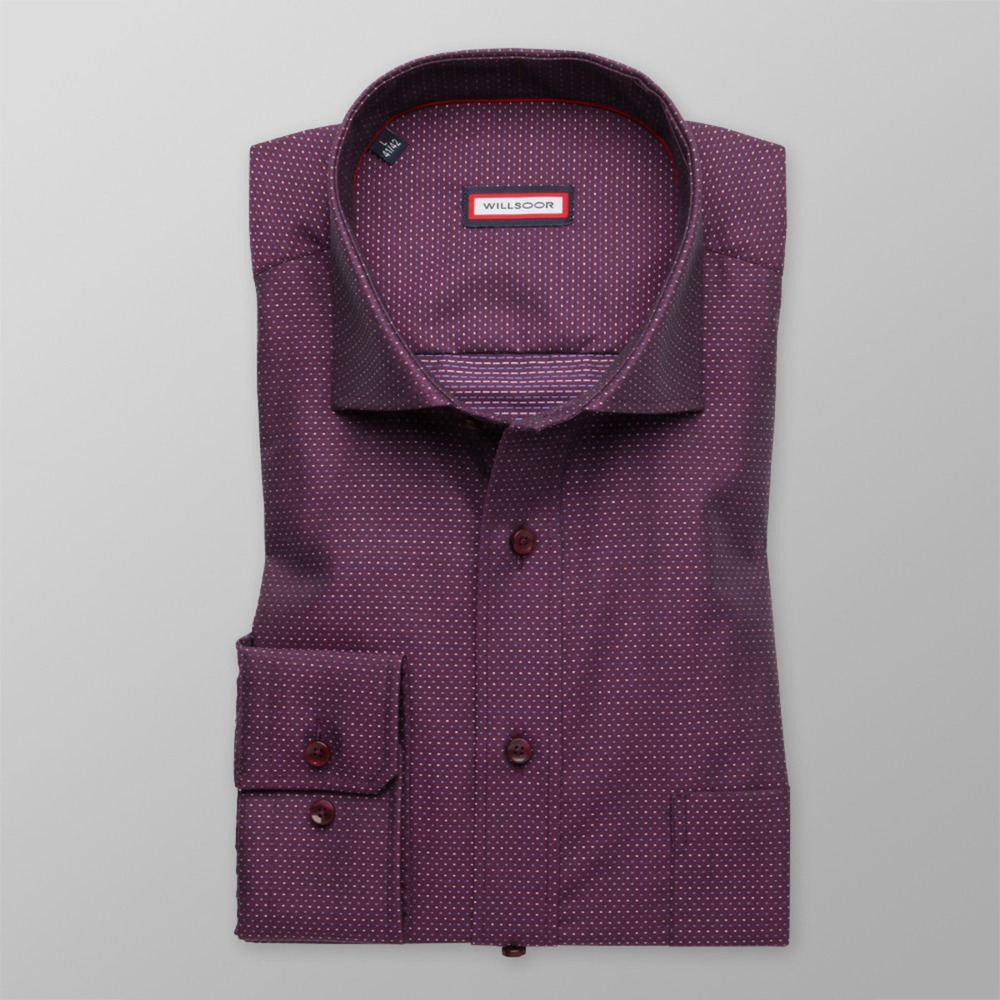 Men's purple classic shirt (height 176-182) 8667 2W Plus