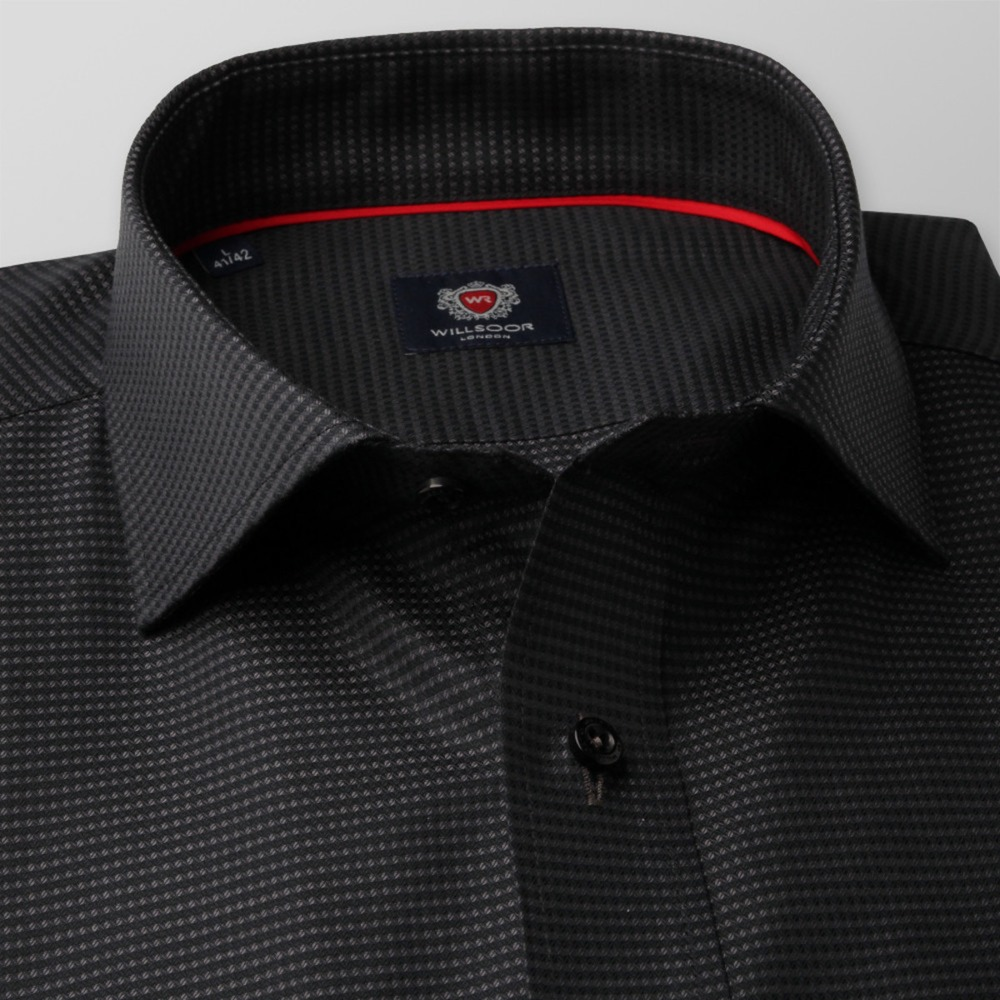 Men's black classic shirt London (height 188-194) 8671