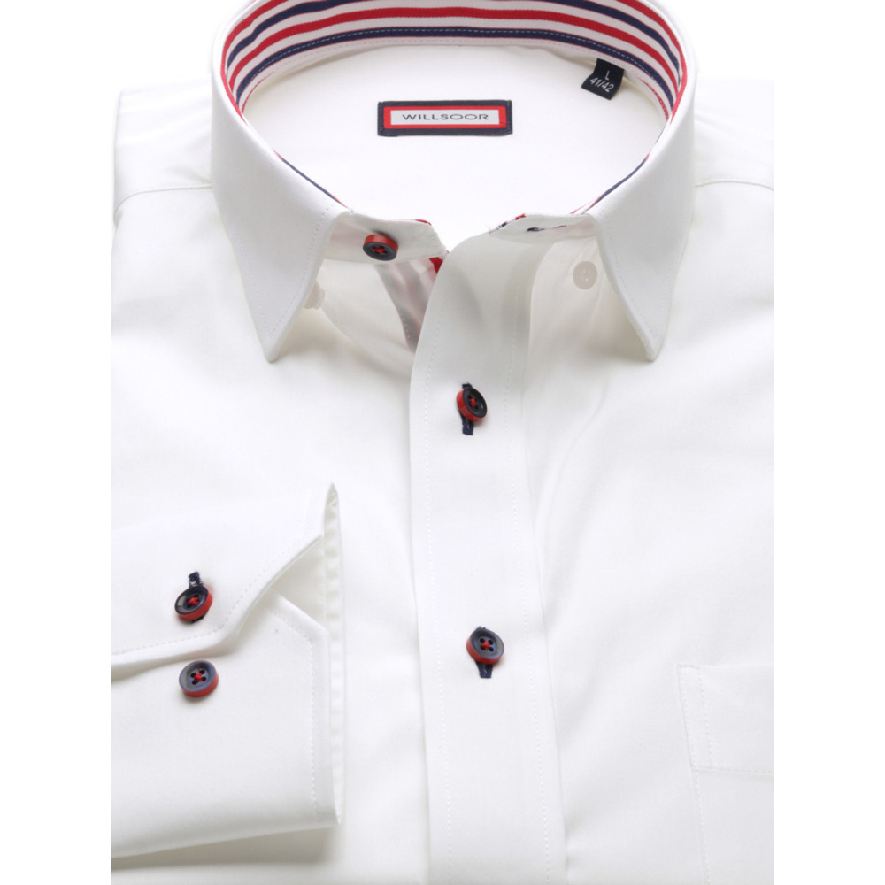 Men's classic Shirt (height 176-182 I 188-194) 8706 in white color