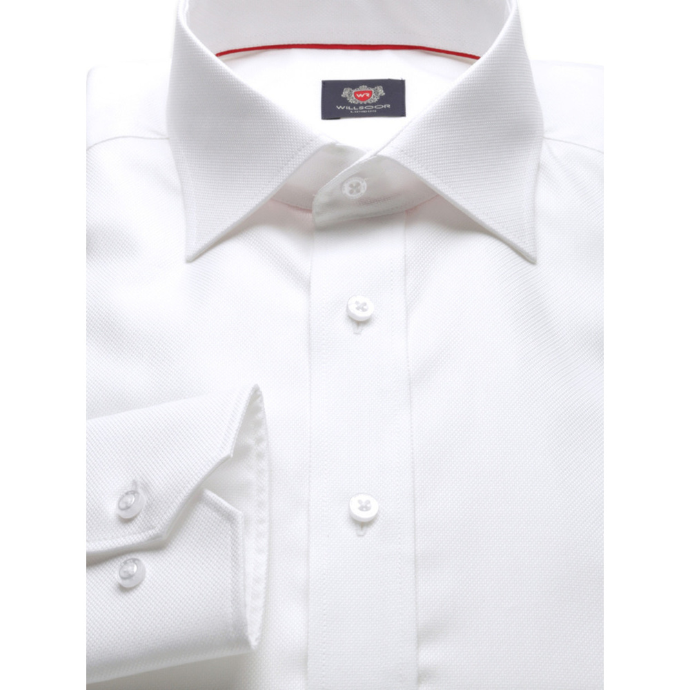 Men's Slim Fit shirt London (height 176-182) 8711 in White color 2W PLUS Treatment