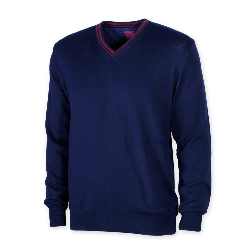 Men's Sweater Willsoor 8724 Blue Colour, V cut