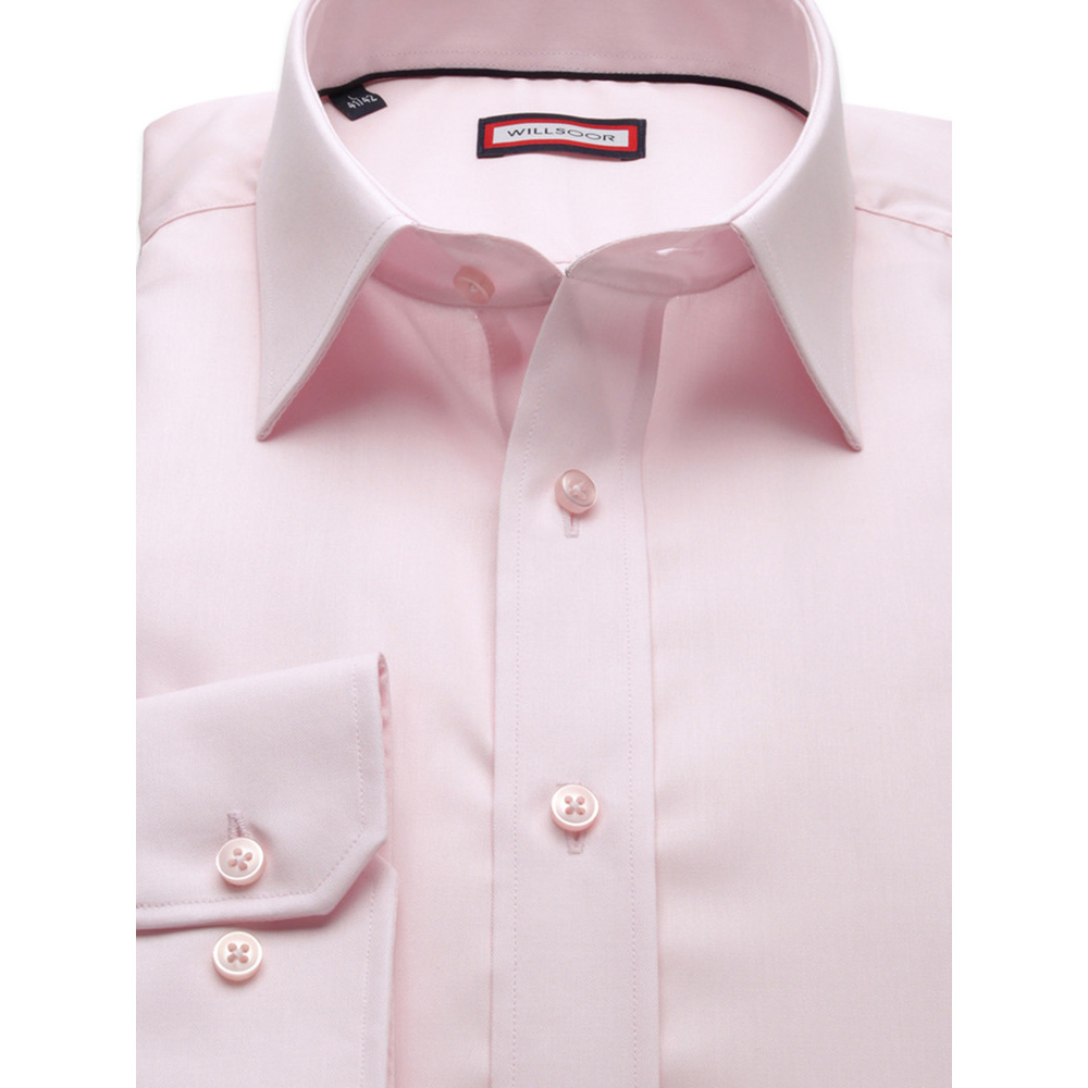 Men's salmon couloured slim fit shirt (height 188-194) 8896