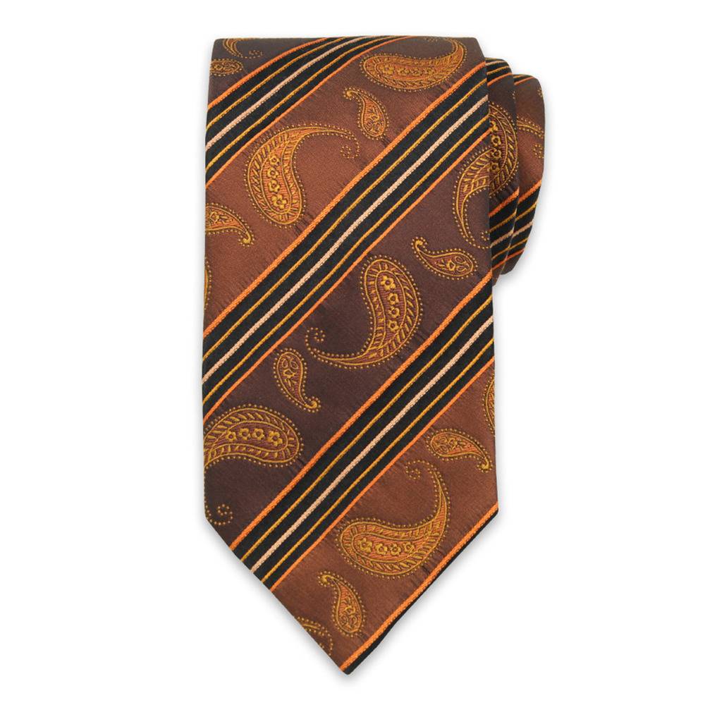 Men's silk tie with paisley pattern 9569