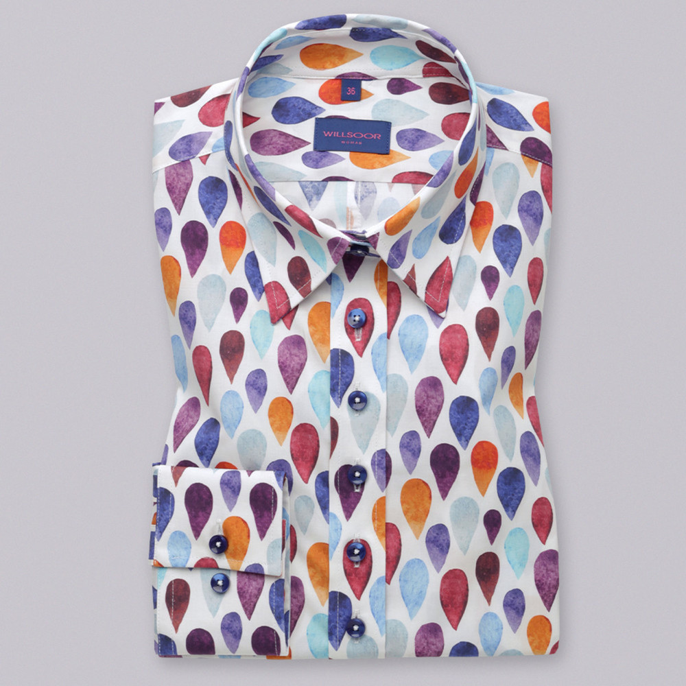 Women's shirt with color tears pattern  9576