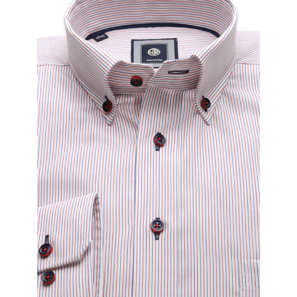 Men's striped slim fit shirt (height 176-182) 9599