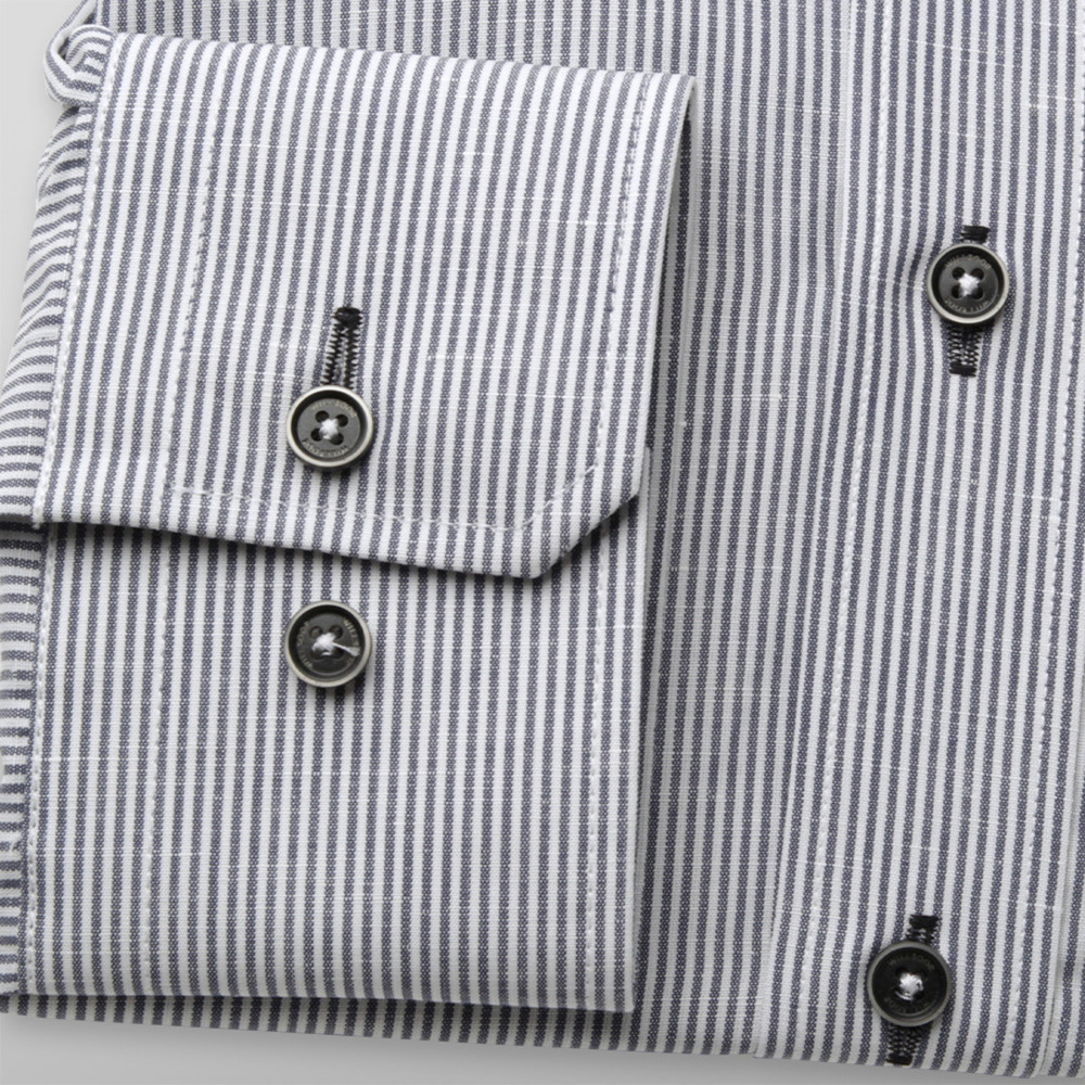 Men's slim fit shirt with strips (height 176-182) 9605