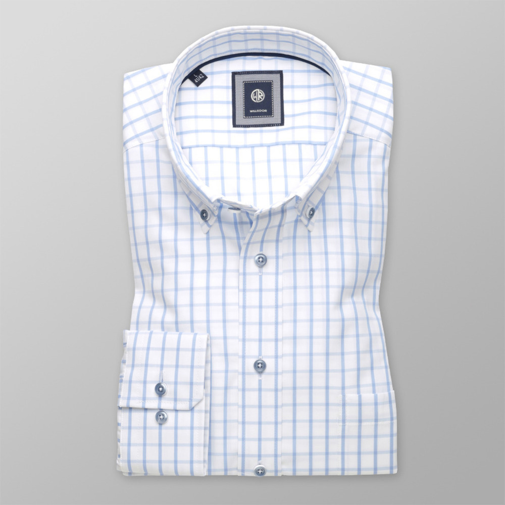 Men's checkered classic shirt (height 176-182) 9608