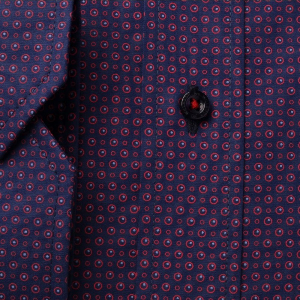 Classic shirt with dots (height 176-182) 9649