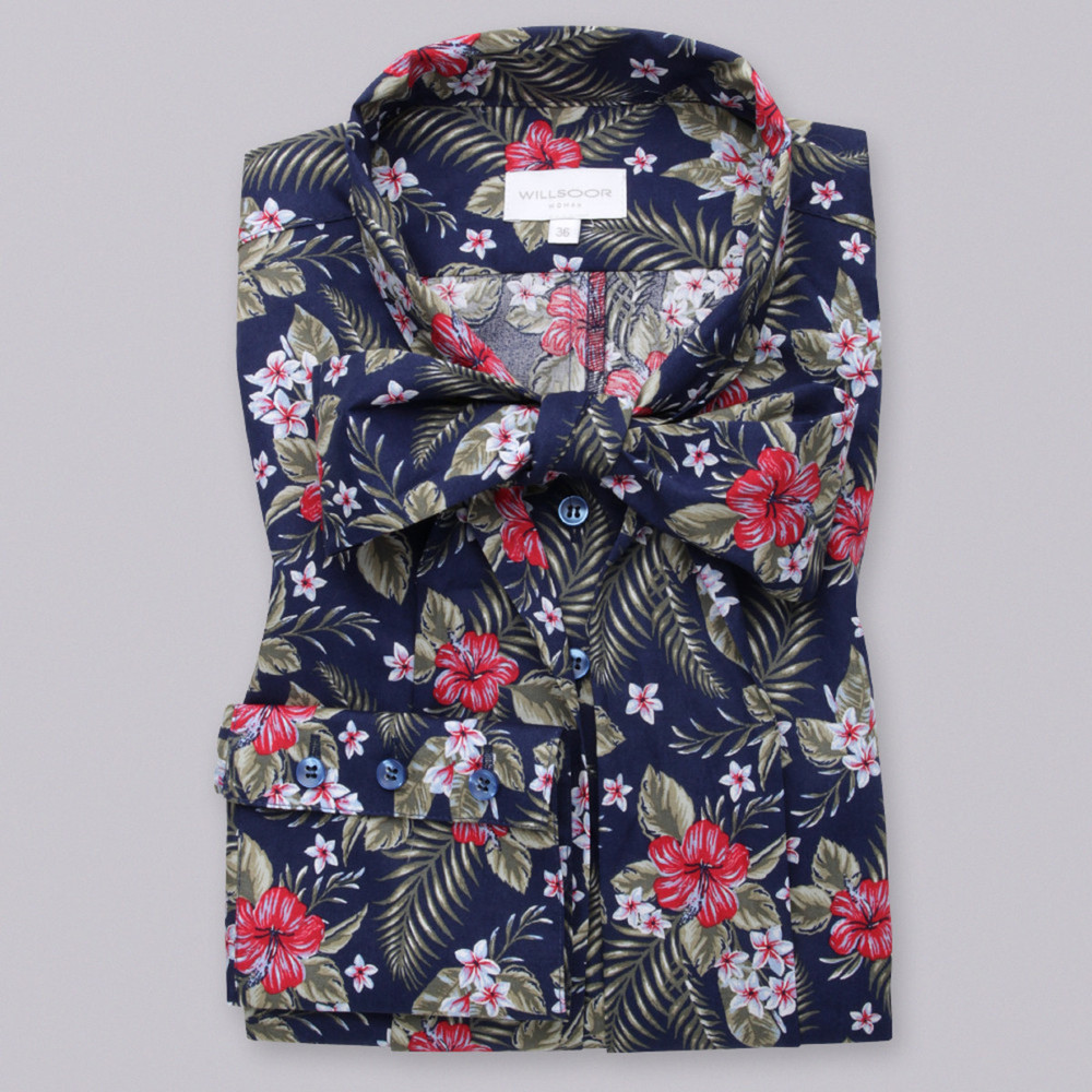 Women's shirt with floral pattern 9696