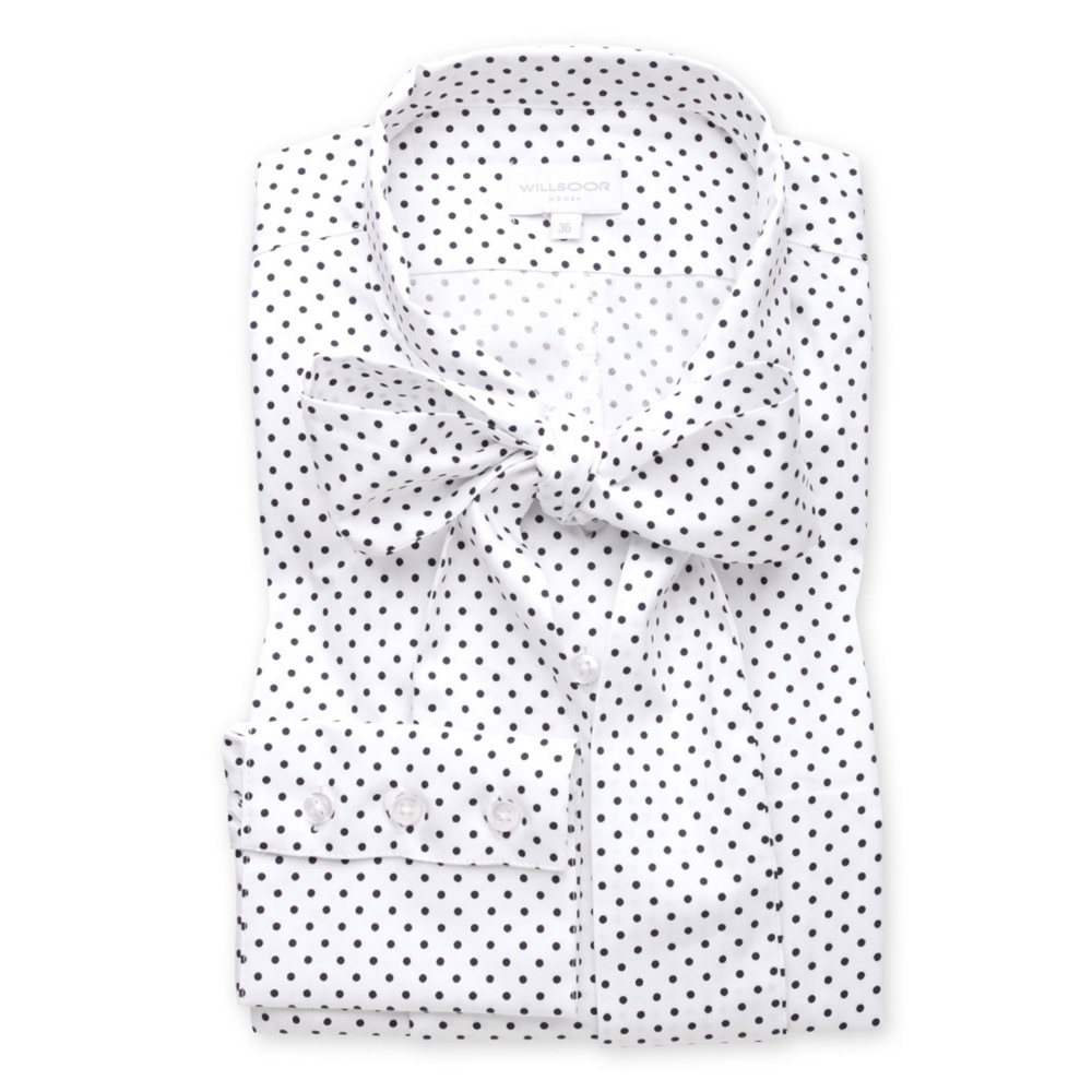 Women's shirt with dot pattern 9698