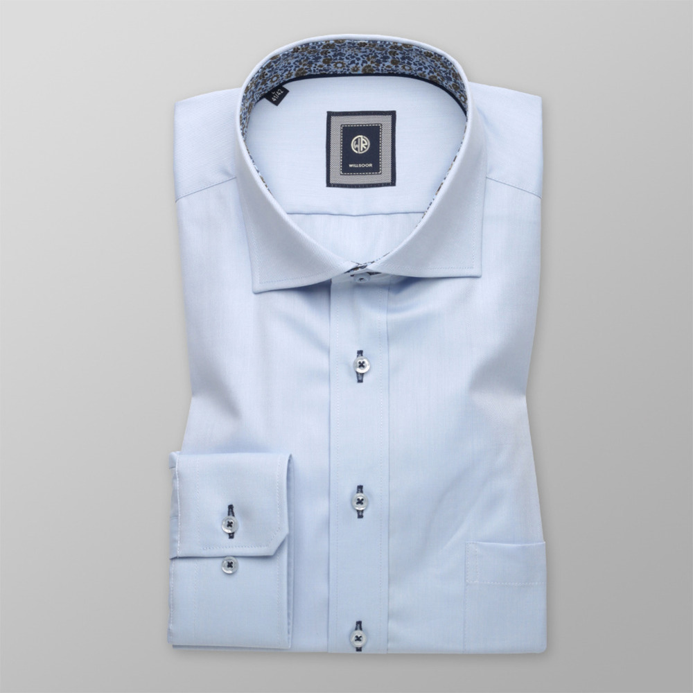 Pale blue slim fit shirt (all size) 9723