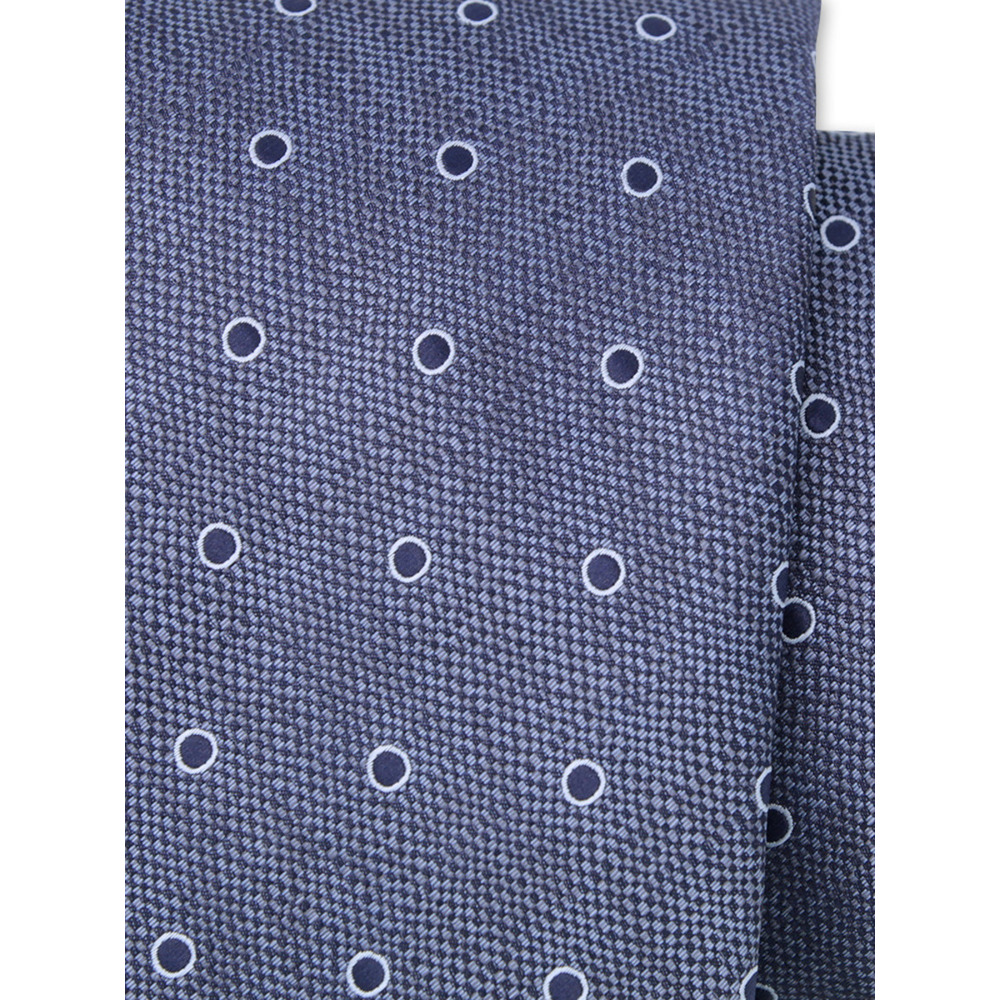 Blue tie with dots pattern  9790