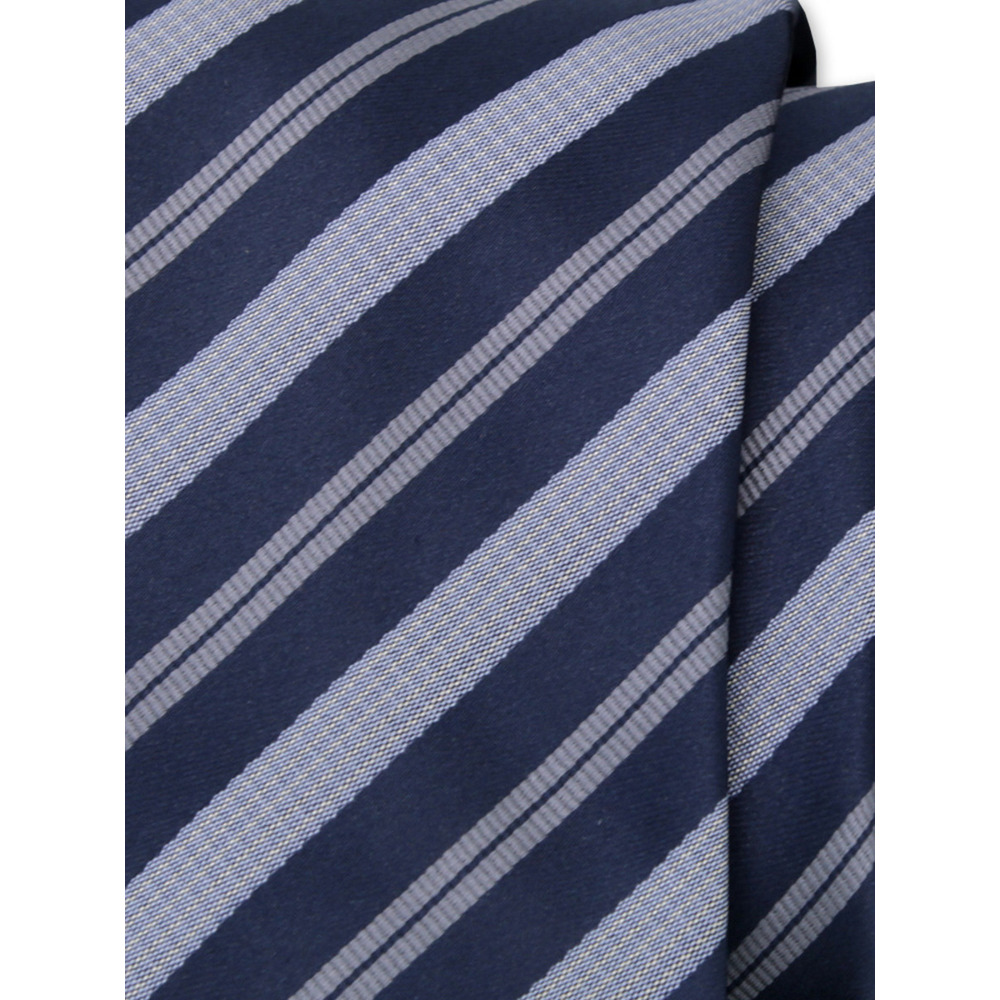 Dark blue tie with strips pattern 9799