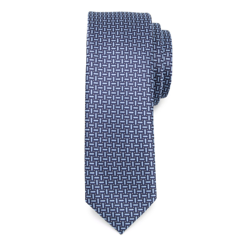 Narrow tie in blue color with fine pattern 9809