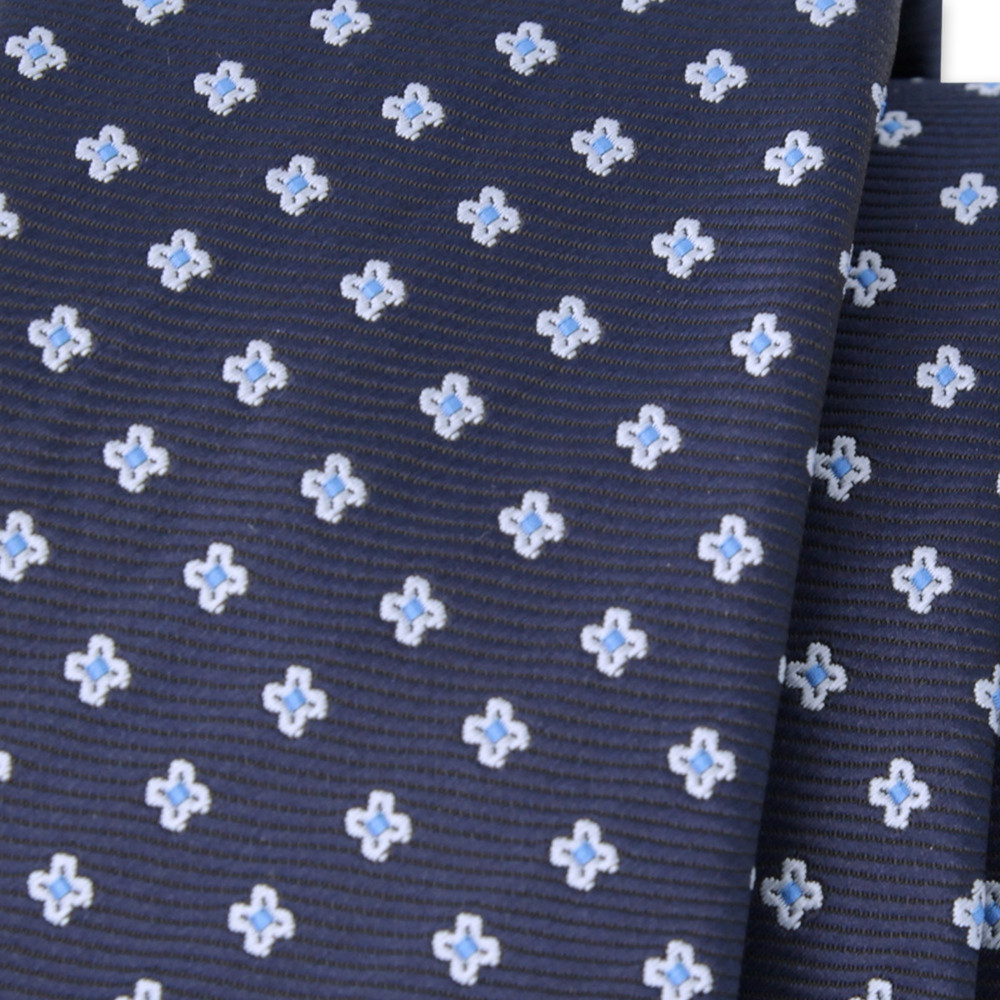 Narrow tie with floral pattern 9814
