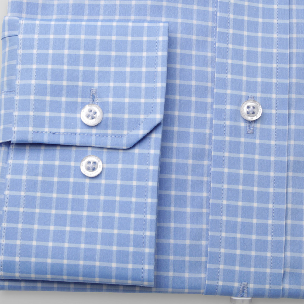 Classic shirt with check pattern (height 176-182) 9887