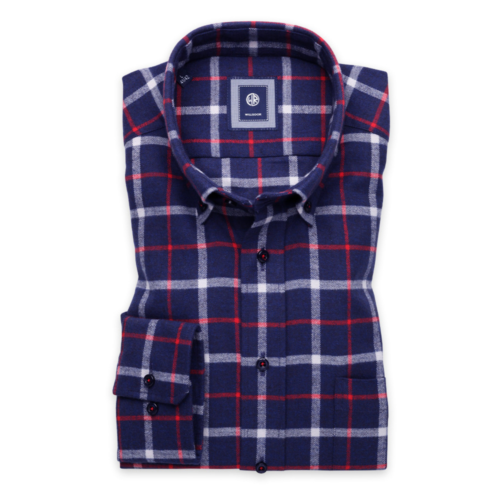 Classic shirt with check pattern (height 198-204) 9903