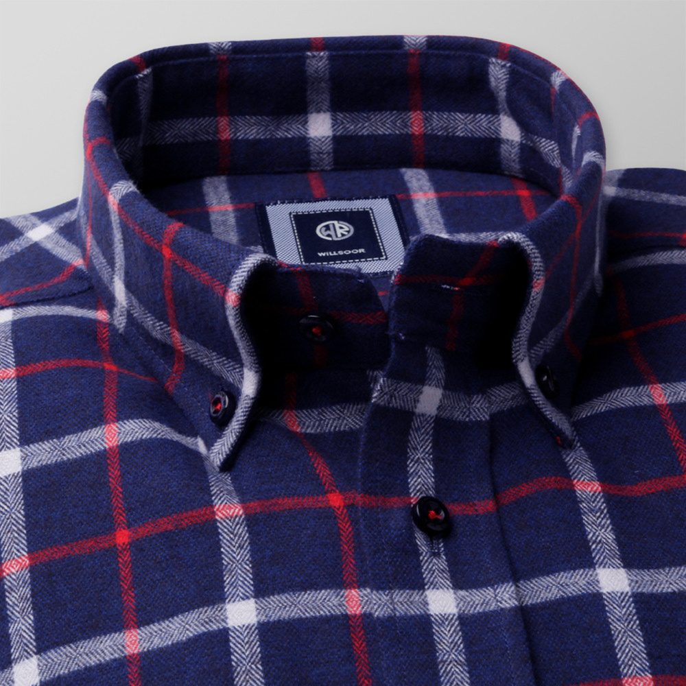 Slim fit shirt with check pattern (height 176-182) 9904