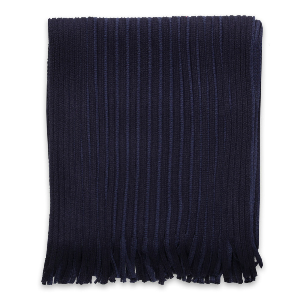 Men's scarf in blue color with strips 9964
