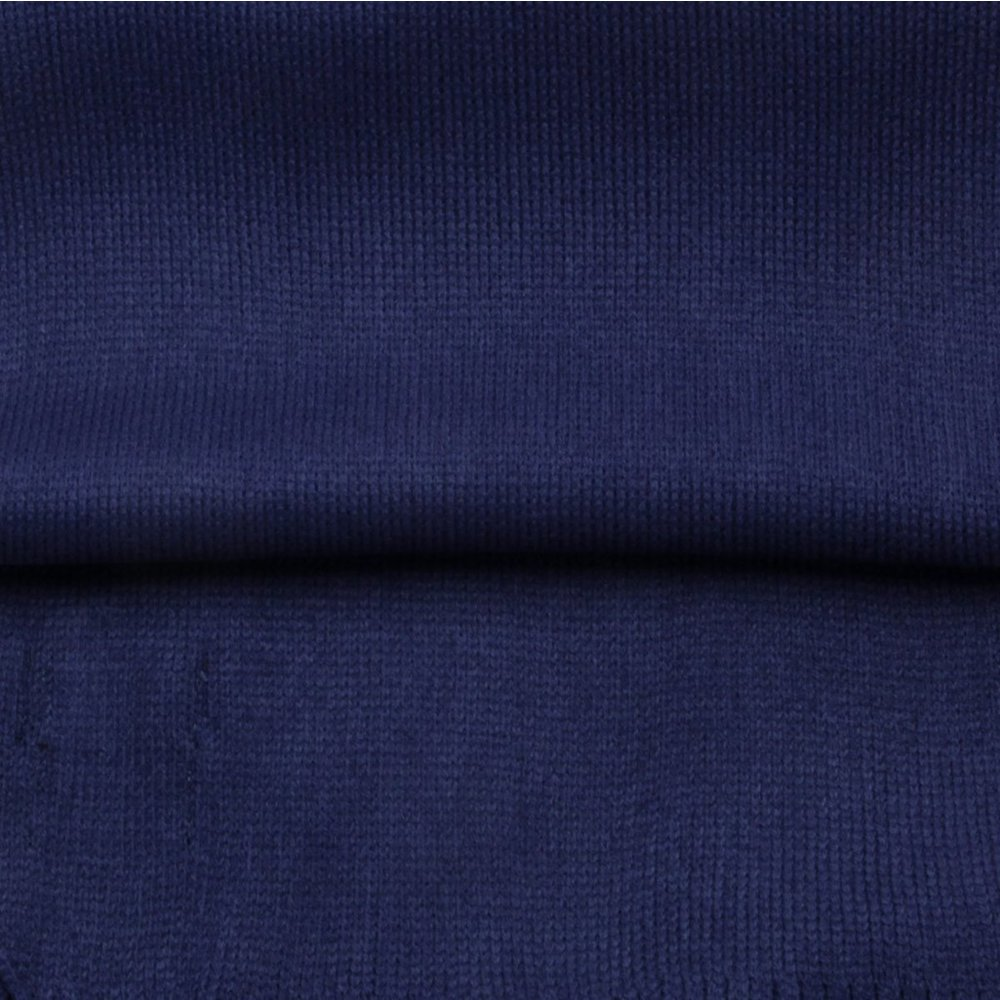 Men's scarf in dark blue with fringes 9968