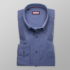 Classic shirt in blue color with herringbone pattern  (height 176-182 and 188-194) 10000