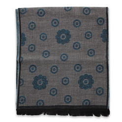 Woolen scarf with turquoise pattern 10007, Willsoor