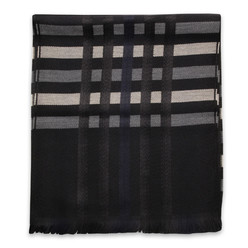 Men's woolen scarf with contrast strips 10009, Willsoor