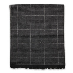 Men's woolen scarf with check pattern 10011, Willsoor