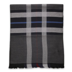 Men's woolen scarf with contras strips  10012, Willsoor