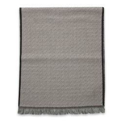Men's woolen scarf with herringbone pattern 10018, Willsoor