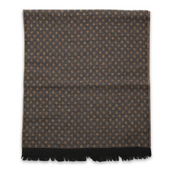 Men's woolen scarf with dots 10019, Willsoor