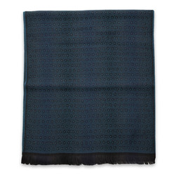 Men's woolen scarf in dark blue 10020, Willsoor