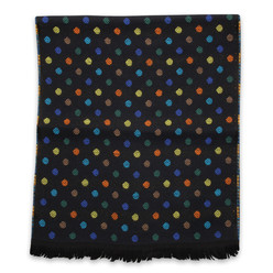 Woolen scarf with colorful dots 10021, Willsoor
