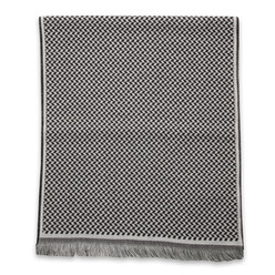 Woolen scarf in grey-black color 10025, Willsoor