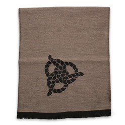 Woolen scarf in brown color with black pattern 10031, Willsoor