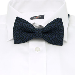 Men's pre-tied bow tie with geometric pattern 10057, Willsoor