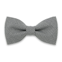 Men's pre-tied bow tie with houndstooth pattern  10062, Willsoor