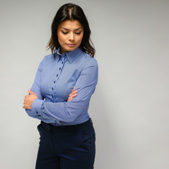 Women's shirt with striped pattern 10095