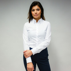 Women's shirt with white pattern 10103
