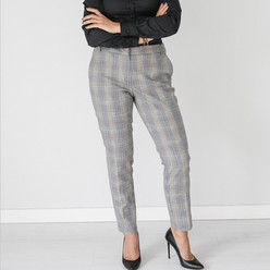 Women's suit trousers with checkered pattern 10142, Willsoor