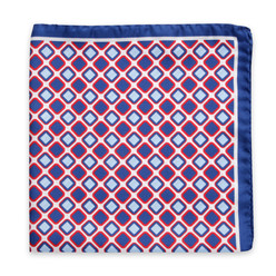 Silk scarf with geometric pattern 10152, Willsoor