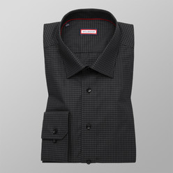 London shirt in black with check pattern (height 188-194) 10160